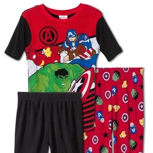 Marvel Comics Avengers 3 Piece Cotton Pajamas